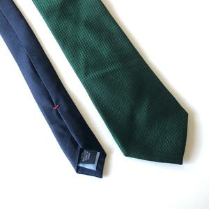 Tommy Hilfiger Tie Silk Hunter Green and Navy NWT